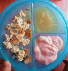 Simple Meal Ideas For One Year Olds 1 2 Biscuit Applesauce Strawberry Yogurt