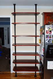 floor to ceiling pole mounted kitchen shelving simplified building