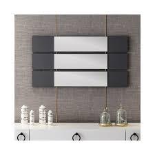otto spiegel mit 3 tafeln vom wohnzimmer schlafzimmer badezimmer anthrazit holz aus holz 15 x 2 x 90 cm