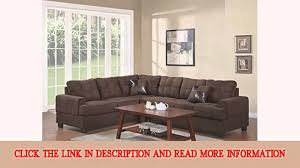 Poundex 3pc Sectional Sofa Set by Poundex Bobkona Leo Microfabric 2piece Reversible Sectional Sofa