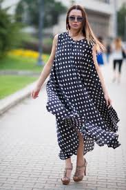 polka dots tunic top white dress for summer party wear dress
