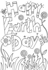 Click To See Printable Version Of Happy Earth Day Coloring Page