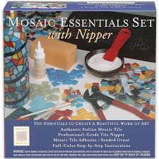 Wheeled Glass Tile Nippers by Amazon Com Mosaic Mercantile Mosaic Essential Set With Nipper