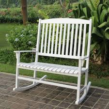 Outdoor Rocking Chair White Double Seat Lawn Patio Wood Garden ... Perfect Choice Cardinal Red Polylumber Outdoor Rocking Chairby Patio Best Chairs 2 Set Sunniva Wood Selling Home Decor Sherry Wicker Chair And 10 Top Reviews In 2018 Pleasure Wooden Fibi Ltd Ideas Womans World Bestchoiceproducts Products Indoor Traditional Mainstays White Walmartcom Love On Sale Glider For Cape Town Plow Hearth Prospect Hill Wayfair