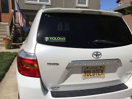 100 Truck Boat YOLOtek And Decal 925w X 275h Show Your YOLOtek Pride