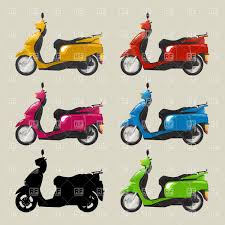 Motor Scooters Free Clipart