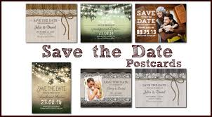 Rustic Save The Date Postcards Wedding Napkins