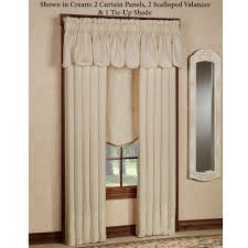 Lace Curtains Panels With Attached Valance by Princeton Window Treatments