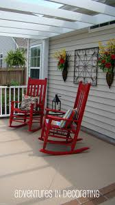 Adventures In Decorating: Red Rocks ... Pun Intended! | Outdoor ... Decorating Pink Rocking Chair Cushions Outdoor Seat Covers Wicker Empty Decoration In Patio Deck Vintage 60 Awesome Farmhouse Porch Rocking Chairs Decoration 16 Decorations Wonderful Design Of Lowes Sets For Cozy Awesome Farmhouse Porch Chairs Home Amazoncom Peach Tree Garden Rockier Smart And Creative Front Ideas Amazi Island Diy Decks Small Table Lawn Beautiful Cheap Best Beige Folding Foldable Rocker Armrest