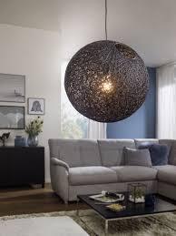 wohnling pendelleuchte schwarz 40 cm wl3 062 aus rattan
