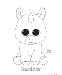 Rainbow Beanie Boo Coloring Pages Print Download 540 Prints