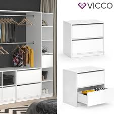 vicco schubladenset groß visit zweiteilig regal schlafzimmer umkleide erweiterung