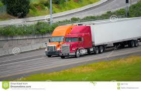 100 Semi Truck Trailers Red Orange S Driving Highway Road