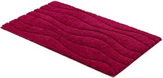 schöner wohnen kollektion santorin badteppich badematte badvorleger design wellen pink oeko tex 100 zertifiziert 60 x 100 cm