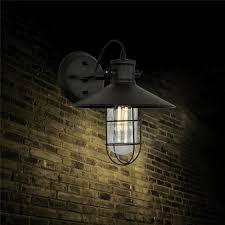 industrial e27 edison bulb wall l metal black cage lshade