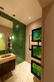 asian wall bathroom contemporary with mosaic tile tile wall