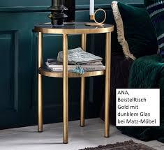 beistelltisch couchtisch gold desgnermöbel matz möbel vintage designermöbel