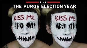 Purge Mask For Halloween by Kiss Me Purge Mask Halloween Sfx Makeup Tutorial The Purge Mini