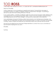 Leading Transportation Cover Letter Examples & Resources ...
