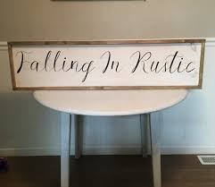 Large Business Name Wood Sign White Distressed With Black Font By FallingInRustic On Etsy
