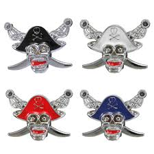 Car Truck 3D Metal Pirate Skull Emblem Badge Decal Bumper Fender ...