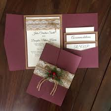 Amazing Wedding Invitation Suites Cheap Rustic Vintage Winter Christmas Suite Shab