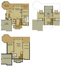 Floor Plans Walkout Basement Inspiration by Rustic Mountain House Floor Plan With Walkout Basement Slope Plans