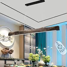 ghy led pendelleuchte esstisch hängeleuchte 20w dimmbar leuchtmittel mit den fernbedienung holz hängele esszimmer industrial deckenleuchte für