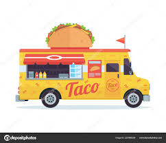 100 Taco Food Truck Modern Delicious Commercial Vehicle Bar Stock