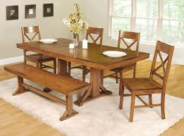 Dining Room Kitchen Table Benches Country Chandelier Lighting Candle Holders For Wall Curtains With Grommets