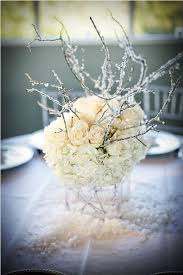 Need Some Help For My Winter Wonderland Wedding Icy Blue Centerpiece With Hydrangea Roses And Branches
