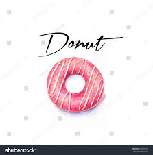 Watercolor donut illustration