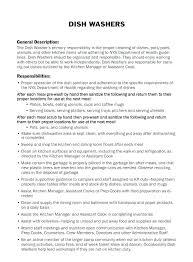 Sample Kitchen Helper Resume Staff Cover For
