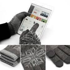 original xiaomi men u0027s touch screen wool gloves stretchy soft warm