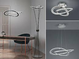 led spirallen für decke wohnzimmer flurbeleuchtung galerie wellenform groß ebay