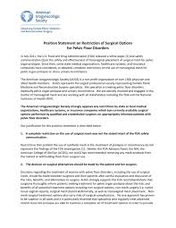 Pelvic Floor Spasms Female by Augs Position Statement On Restriction Of Surgical Optionsfor