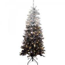 6ft Slim Black Christmas Tree by 6ft Pre Lit Black Christmas Tree Princess Decor
