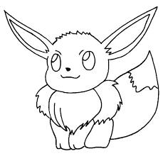 Pokemon Eevee Evolutions Coloring Pages Stock Sylveon
