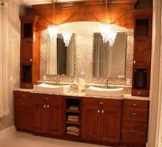 Sparkling Chandeliers With Wooden 60 Inch Vanity For Elegant ... Mirror Home Depot Sink Basin Double Bathroom Ideas Top Unit Vanity Mobile Improvement Rehab White 6800 Remarkable Master Undermount Sinks Farmhouse Vanities 3 24 Spaces Wow 200 Best Modern Remodel Decor Pictures Fniture Vintage Lamp Small Tile Design Element Jade 72 Set W Tempered Glass Of Artemis Office