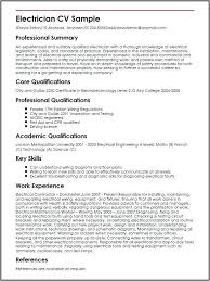 Resume Examples Electrician Sample New Template Templates Helper