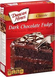 Image Gallery of Imposing Design Dark Chocolate Cake Mix Astonishing Duncan Hines Classic Fudge 15 25 Oz