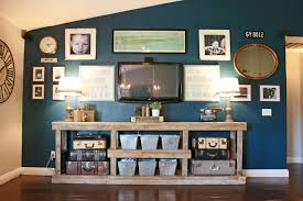 Wall Of Pictures Around Television