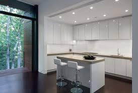 Modern White Kitchen Dark Floor Isttat