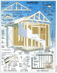 Shed Design Plans 8x10 by Garden Shed Plans How To Build A Shed