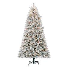 5ft Pre Lit White Christmas Tree by Shop Holiday Living 7 5 Ft 1 135 Count Pre Lit Preston Pine