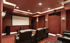 home theater recessed low profile lighting fixtures and wall