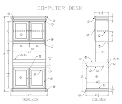 learn how to build a wooden computer desk free woodworking plans
