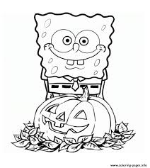 Spongebob Squarepants Pumpkin Halloween Coloring Pages Print Download 330 Prints