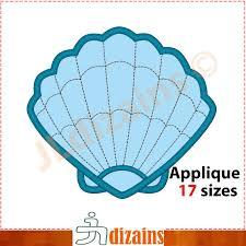 100 Sea Shell Design Applique Embroidery Machine Embroidery