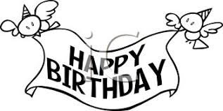 happy birthday banner clip art black and white